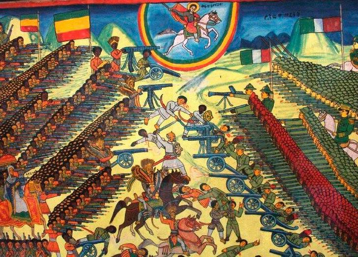 1er mars 1896 LA BATAILLE d'ADOUA : La victoire de l 'Empire Ethiopien sur le Royaume d 'Italie